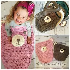 Teddy Bear Car Seat Cozy by MJ's Off the Hook Designs