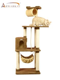 Amazon.com : Cat Tree, Beige : Cat Tower : Pet Supplies