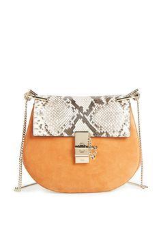 2fd184c0f71 chloe leather and snake skin handbag Wallets For Women, Python, Beige  Shoulder Bags,