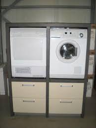 wasmachine kast - Google zoeken Stacked Washer Dryer, Washer And Dryer, Mudroom, Washing Machine, Laundry, Home Appliances, Google, Garage, Sweet