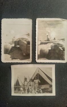 Military Photograph WW I Army Black & White Lot of 3