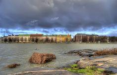 HDR in Helsinki: View to Ullanlinna from Uunisaari