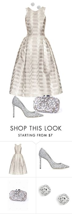 """Untitled #343"" by blossomsbeauty ❤ liked on Polyvore featuring Mary Katrantzou and Jimmy Choo"