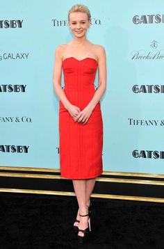 Great Gatsby star Carey Mulligan at the world premiere for the film.