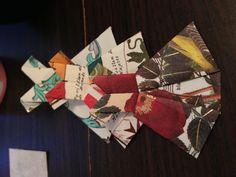 Paper origami dresses