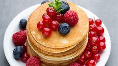 Plant-based ingredients were used to make pancakes at the show