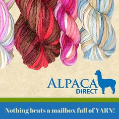 Shop www.AlpacaDirect.com and we'll fill your mailbox with #yarn!