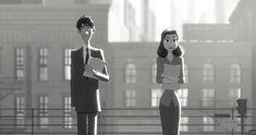 If it would be really easy and romantic in real life, our love life would be much easier too. :) A beautiful short movie about love at first sight :) it really funny . Nowadays the guys could be like him. :) :)