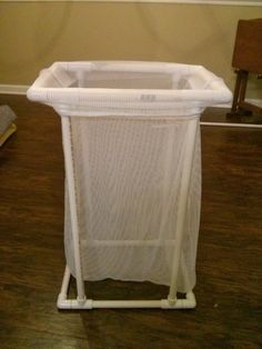 PVC Pipe Laundry Hamper. My Grandma used to have these in her house when I was growing up. I miss them and already have a laundry bag.