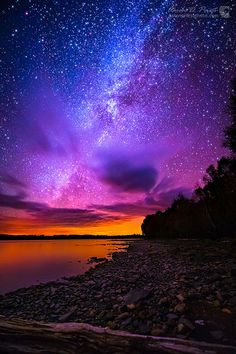 Milky Way over Spencer Bay, Moosehead Lake, Maine. Too beautiful for words.