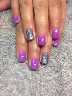 """Purple with Light Elegance """"Lovers Lane"""" and silver glitter"""