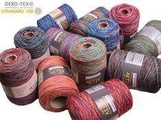 Aktiv 4-fach Konen Textiles, Sewing, Pandoras Box, Crates, Knitting Socks, Knitting And Crocheting, Color Combinations, Knit Patterns, Felting