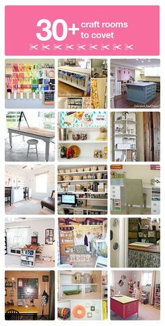 """30+ craft room ideas you will love!."" #furniture #painting #craftroom #inspiration"