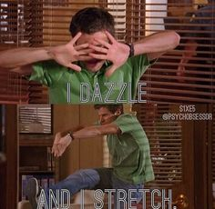 I love this episode. I dazzle and stretch all the time just to weird people out. Lol