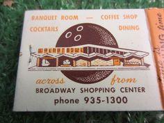 WALNUT BOWL, WALNUT CREEK, CALIF Matchbook happy hour king size drinks kitschy souvenir