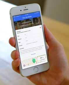 Job details iphone app preview