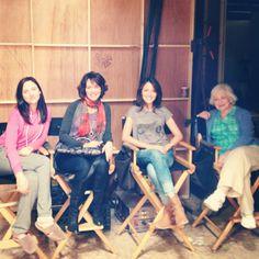 Haley Ramm, Mary Page Keller, Italia Ricci, and Rebecca Schull