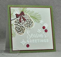 Winter Pinecones by Kim Singdahlsen