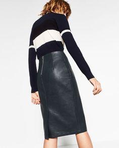 Imagem 5 de SAIA TUBO POLIPELE da Zara