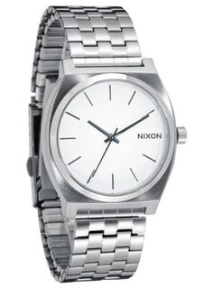 Nixon Men's A045-100 Stainless Steel Analog with White Dial Watch: Watches: Amazon.com