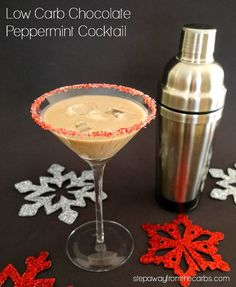 Low Carb Chocolate Peppermint Cocktail - sugar free recipe for the holidays! Low Carb Chocolate Peppermint Cocktail - sugar free recipe for the holidays! Peppermint Martini, Low Carb Cocktails, Keto Holiday, Holiday Baking, Christmas Cocktails, Christmas Recipes, Holiday Recipes, Christmas Ideas, Low Carb Chocolate