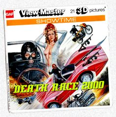 Viewmaster 3 disk set for Deathrace Gi Joe, Retro Toys, Vintage Toys, Death Race 2000, Jerry Lee Lewis, Abbott And Costello, Aliens Funny, View Master, Baby Boomer
