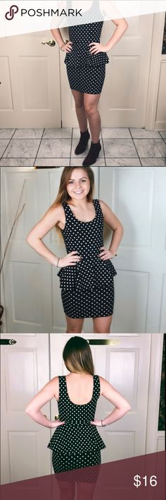 Forever 21 polka dotted fitted, ruffle top dress Forever 21 polka dotted fitted, ruffle top dress Forever 21 Dresses