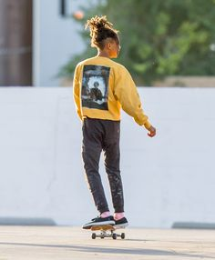 Jaden Smith inspires my fashion taste because he is so free and individualized in the way that he dresses, he is a unique character.