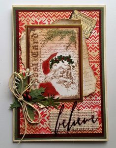 Hello and thanks for calling in today. It's the last challenge of 2016 at Fashionable Stamping Challenges and it's one you all like - A. Christmas Mix, Christmas Cards To Make, Vintage Christmas Cards, Christmas Gift Tags, Xmas Cards, Handmade Christmas, Holiday Cards, Christmas Crafts, Christmas Journal