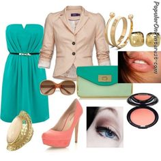 Casual Date Night!, created by themargaretk on Polyvore Love these colors