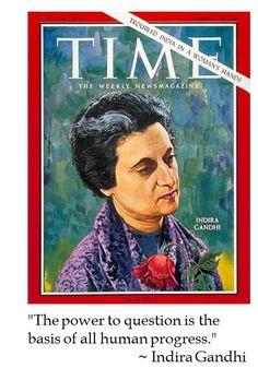 Indira Gandhi on Progress