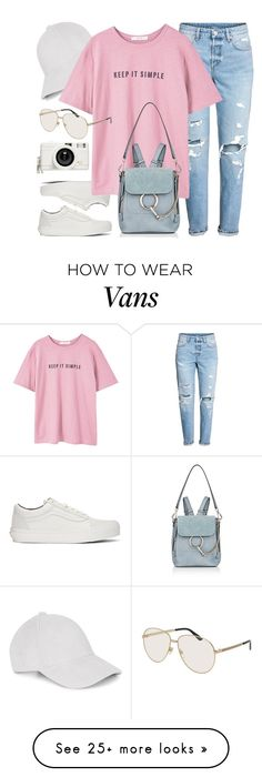 """""""11:59"""" by monmondefou on Polyvore featuring Vans, Le Amonie, MANGO, Chloé, Gucci, Lomography and Pink"""