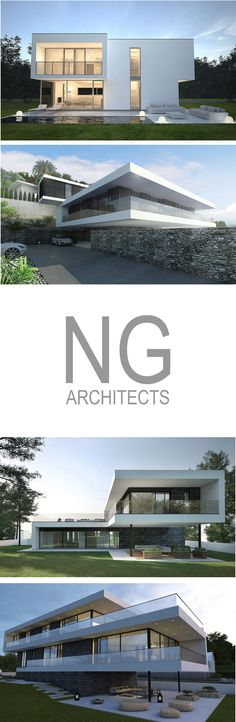 modern villa design by NG architects www.ngarchitects.eu