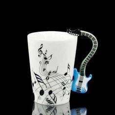 Handmade Electric Guitar Mug