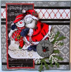 L'étampe du mois par didi Art Impressions, Christmas Wreaths, Holiday Decor, Scrapbooking, Card Ideas, Art Prints, Christmas Garlands, Holiday Burlap Wreath, Scrapbooks