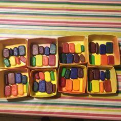 Wax crayon storage