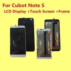 "original FOR CUBOT NOTE S LCD Display+Touch Screen+Frame Digitizer Assembly Replacement Accessories 5.5"" Give silicone case"