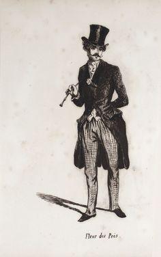 Album amicorum suite de dessins EDITION ORIGINALE ENVOI AUTOGRAPHE by ANONYME  s.l: S.n, 1846.  Fine.  S.n, s.l (vers 1846), in-4 à l'italienne (21,5 x 27 cm)., relié. - Album amicorum composé d'une suite de 48 dessins légendés à l'encre de Paul Gavarni binding en plein chagrin