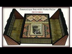 "Graphic 45 ""Communique"" Box with Photo Folio - PDF Tutorial - YouTube"