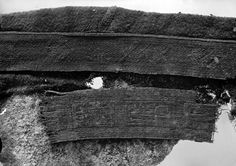 Tablet-woven band from Evebø, Norway. Migration period.