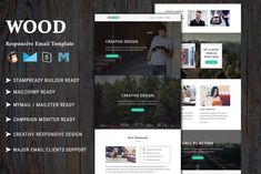 Wood - Responsive Email Template by Pennyblack Templates on Html Email Templates, Newsletter Templates, Responsive Email, Ecommerce Seo, Mail Chimp Templates, Campaign Monitor, Sales Letter, Email Client, Action