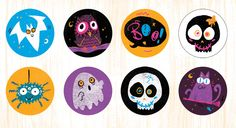 Cathy Hookey Illustration :: Spooky Stickers