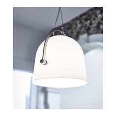 SVIRVEL Pendant lamp  - IKEA  maybe mounted from the wall next to bed if can be wired