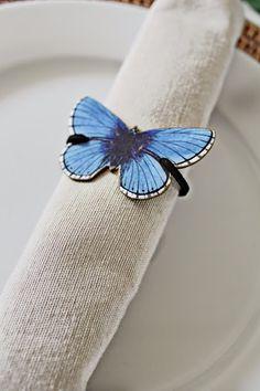 diy butterfly napkin ring