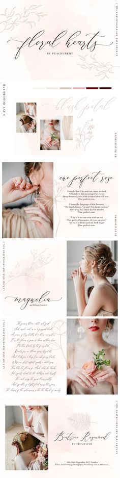 Floral Hearts-Luxury Script Font by PeachCreme on @creativemarket