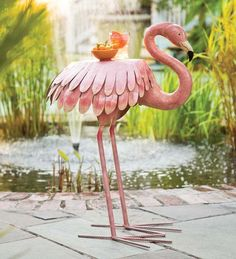 Flamingo patio side table