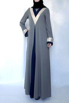 Tulip Abaya – Grey - Lana Lik - Modest Clothing Boutique
