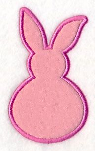Bunny Puff (Applique) design (Y4979) from www.Emblibrary.com