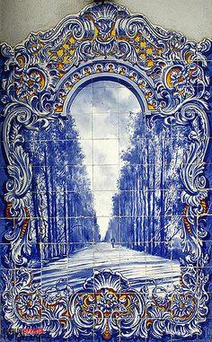 Mosaico do Mercado Municipal, Santarém Delft Tiles, Blue Tiles, Mosaic Tiles, White Tiles, Matisse Paintings, Rhapsody In Blue, Portuguese Tiles, Blue Pottery, Red Aesthetic