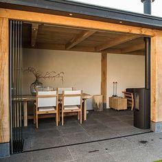 Backyard Gazebo, Outdoor Pergola, Patio Roof, Outdoor Rooms, Outdoor Living, Space Saving Doors, Bbq House, Back Garden Design, Home Porch